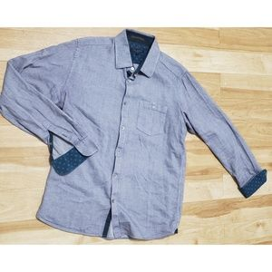 Ted Baker London Size 4 Blue Button Down Shirt Men